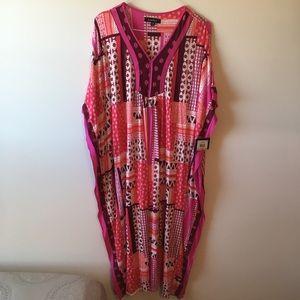 Ellen Tracy Maxi Caftan Dress NWT